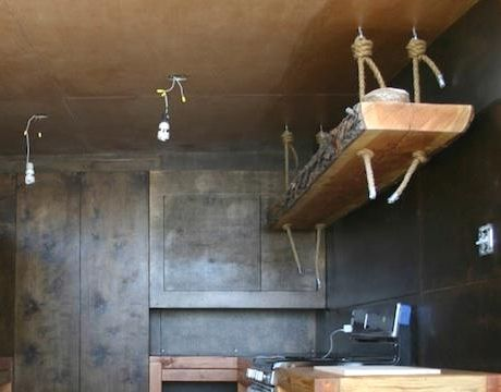 kitchen rope shelf hanging from ceiling recycle pinterest. Black Bedroom Furniture Sets. Home Design Ideas
