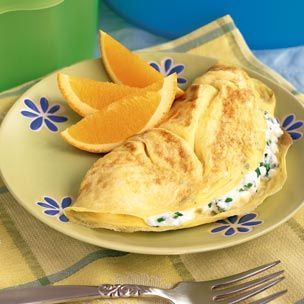 Williams-Sonoma Cheese and Herb Omelette 2 tablespoons cream cheese ...