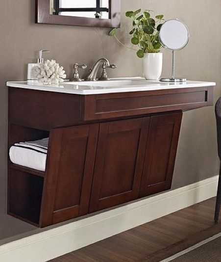 fairmont designs shaker ada wall mount vanity for the