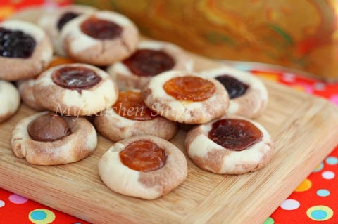 Nutella Swirl Thumbprint Cookies | Cookies | Pinterest