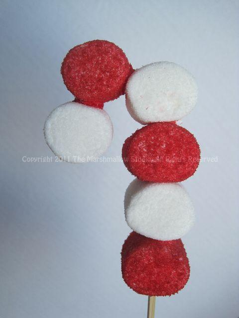 Candy Cane #Marshmallow #Pop | Brochetas | Pinterest