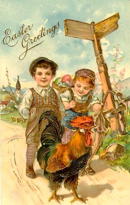 Old Easter Post Card — (500x785) | Old Easter Post Card — Chickens ...: pinterest.com/pin/478155685410987736