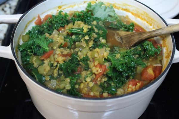 Spiced Red Lentil, Tomato, and Kale SoupIMG 6026