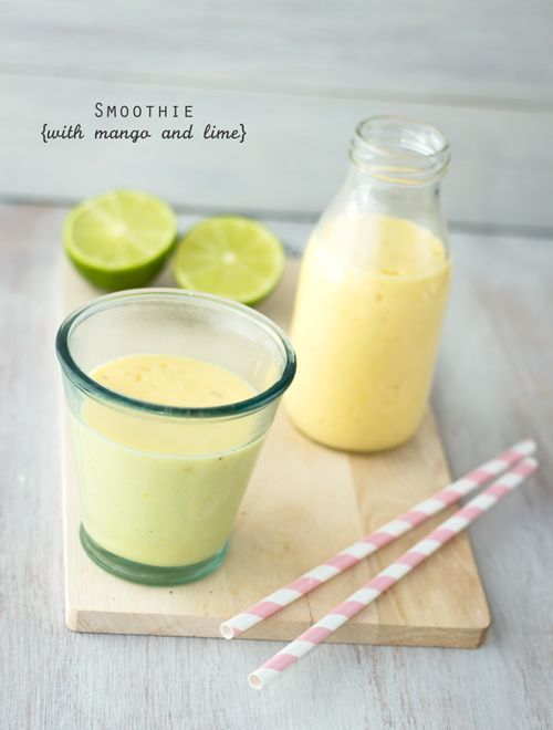 Mango Smoothie with Lime and Honey | Drinks | Pinterest