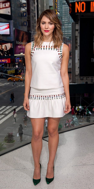 Katharine McPhee wears Cynthia Rowley matching set. // #WWSW #LOTD