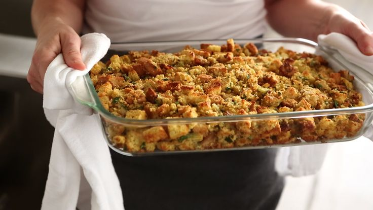 Bacon-Cornbread Stuffing Recipe | Cooking | How To | Martha Stewart ...