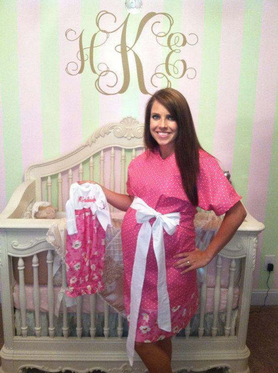 monogram maternity hospital gown | Dress Wallpaper