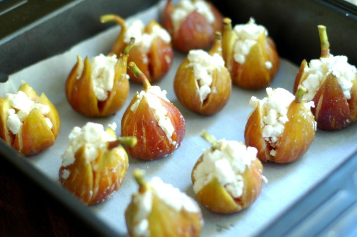 Roasted Figs with Goat Cheese & Honey. | The Elliott Homestead