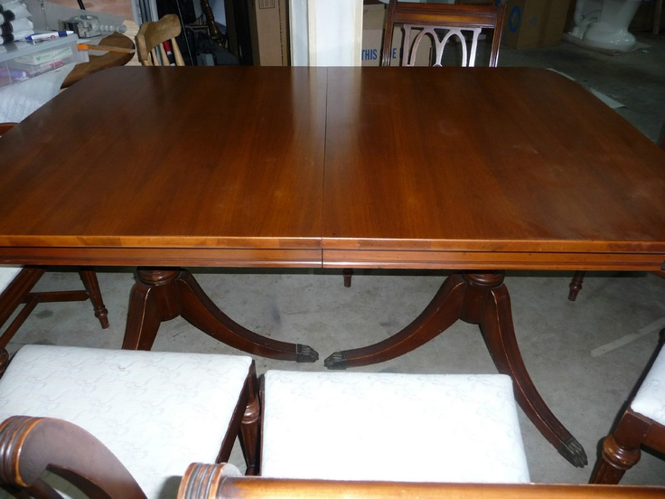 Duncan Phyfe Mahogany Dining Table 6 Chairs With Extra Leaf 1940 39 S