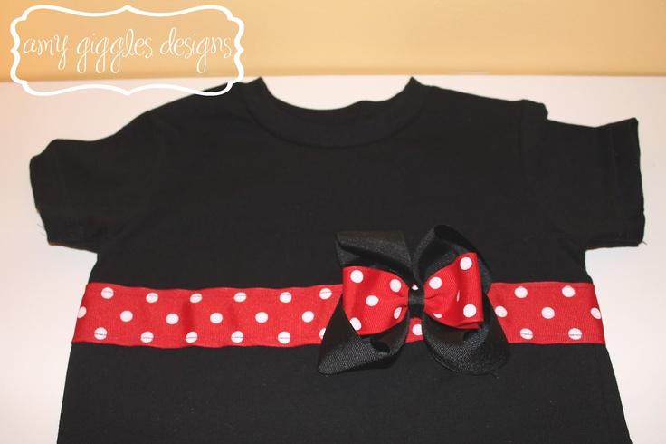 Minnie Mouse Bow Shirt Tutorial