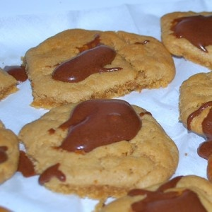 """Peanut Butter Volcano Cookies a """"Party in Your Mouth""""."""