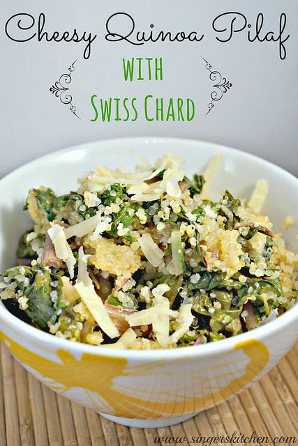 Cheesy Quinoa Pilaf with Swiss Chard by Singerinkitchen, via Flickr