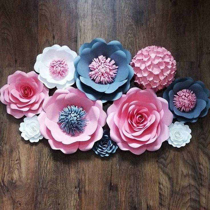 Мастер класс объемные цветы из бумаги на стену своими руками 54
