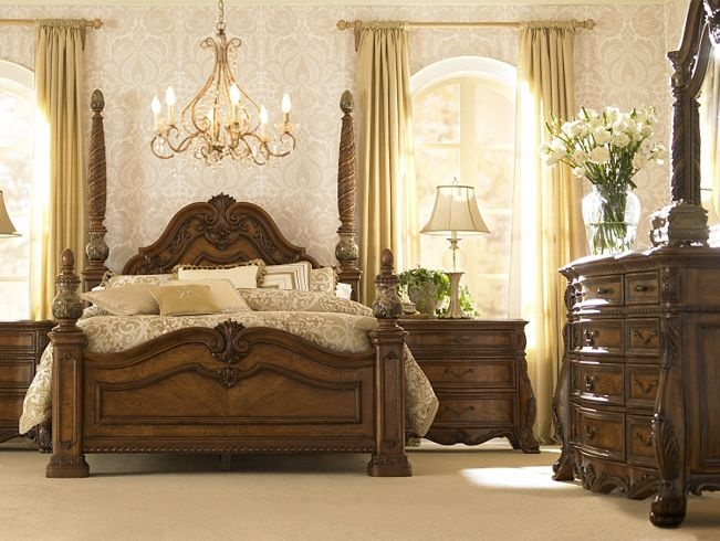 bedroom furniture villa clare king poster bed havertys furniture