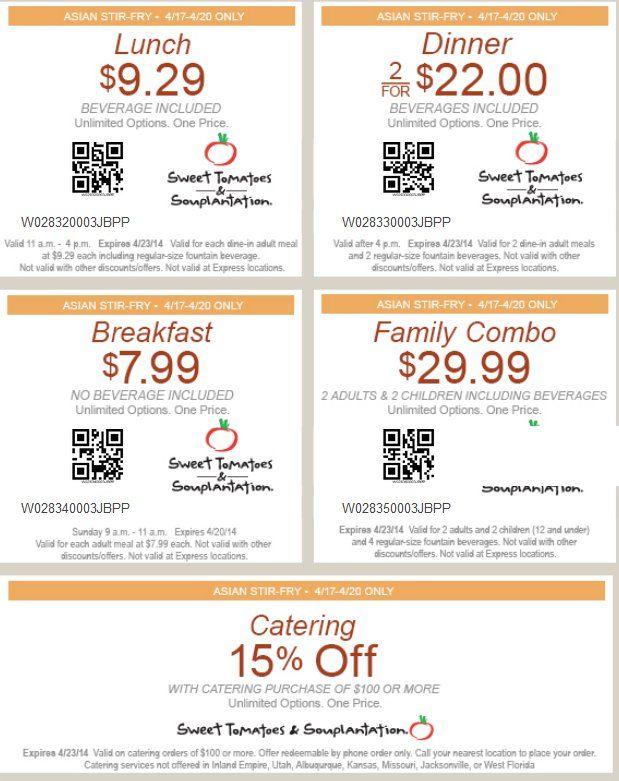 Souplantation discount coupons