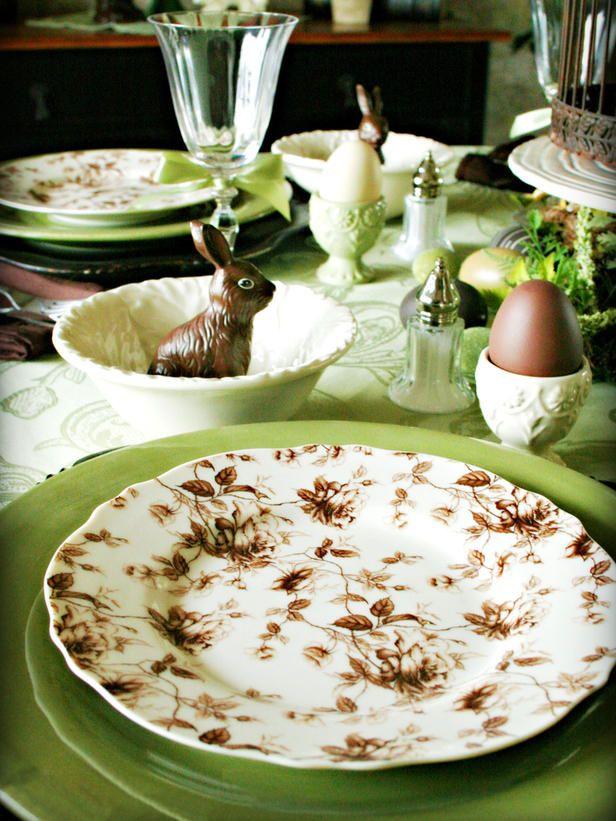 Chocolate Easter table-setting   Mmmmmm ... Chocolate!