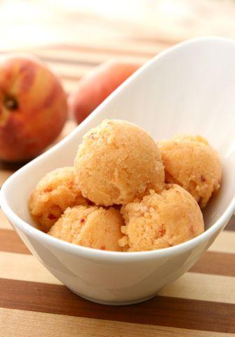Peach Sorbet | Frozen Treats | Pinterest