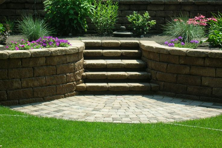 patio steps landscaping like this idea for replacing back porch