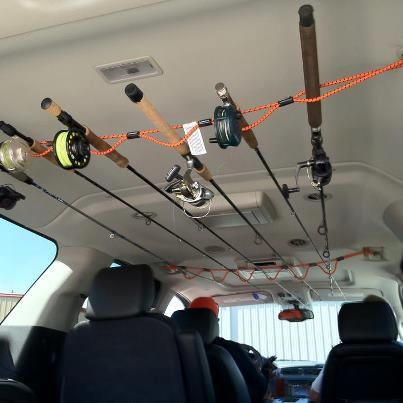homemade fishing rods holders storage car interior design. Black Bedroom Furniture Sets. Home Design Ideas