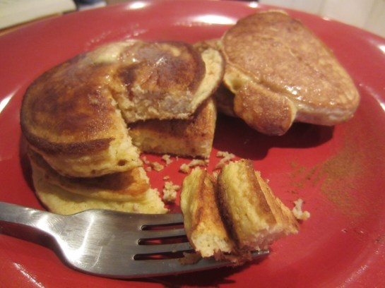 Coconut flour pancakes 1/4 c Coconut Flour 1/4 t Baking Soda 4 Eggs 3 ...