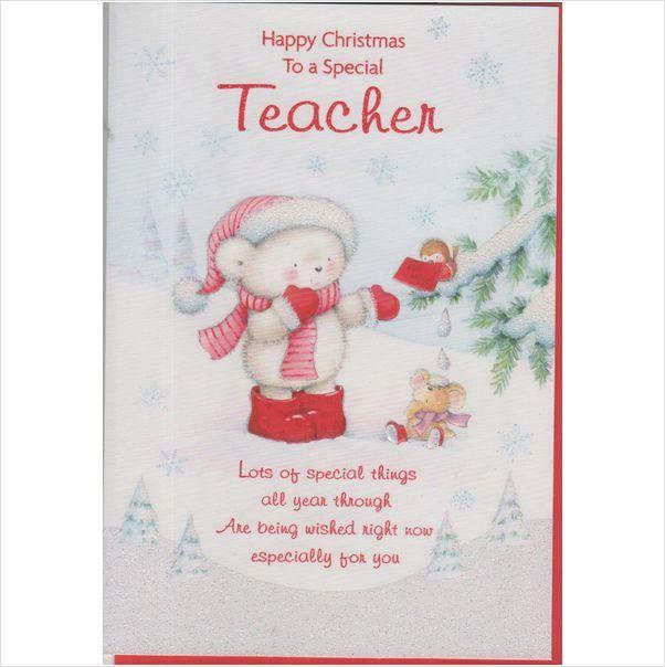 Giving Your Teacher A Christmas Card