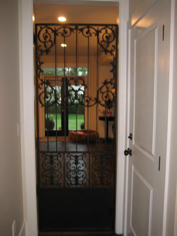 Wrought iron pantry doors