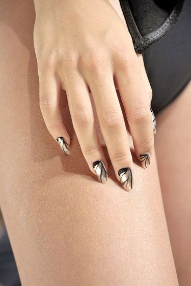 Metallics at Katie Gallagher - The Best Spring 2013 Nail Trends to Try Now
