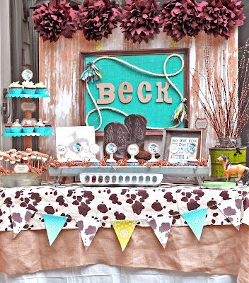 cowboy baby shower boy baby shower ideas pinterest