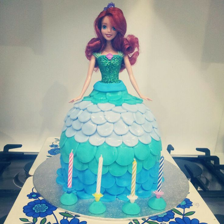 Ariel cake we made - inspired by the other fantastic Ariel cakes ...