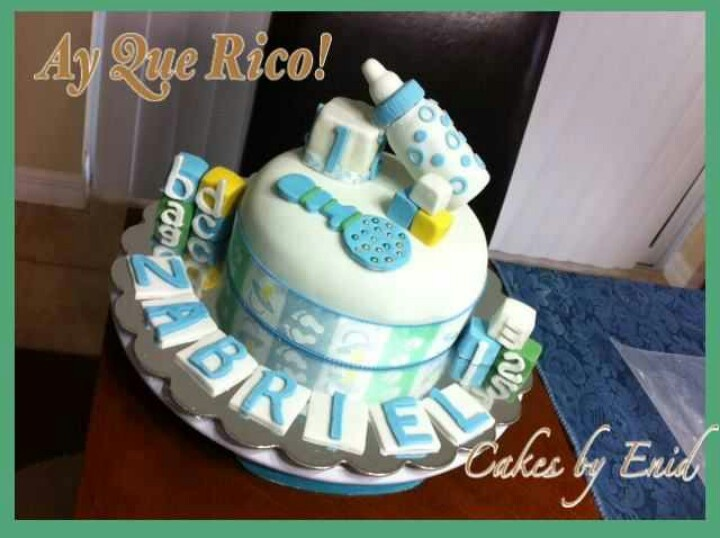 Baby cake/Baby shower cake. Cakes by Enid. Orlando, FL. 407.730.4198
