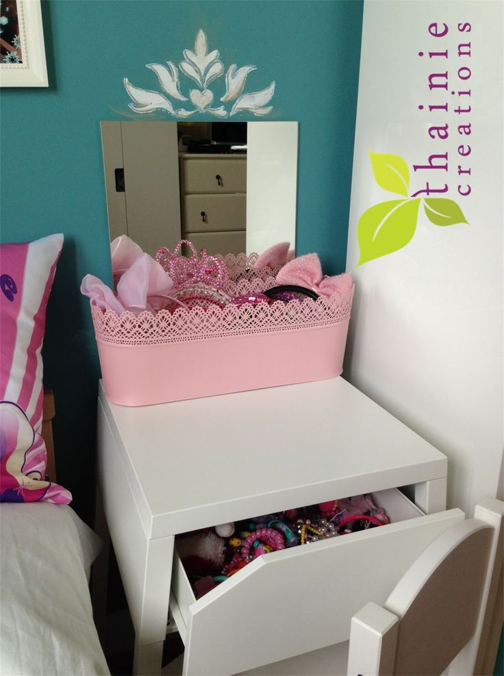 Ikea Paper Floor Lamp Light Bulbs ~ Thainie DIY Bedside Table to Child's Dressing Table (IKEA hack)