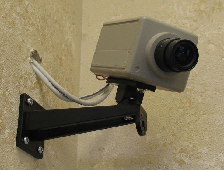 Camera installed at work place