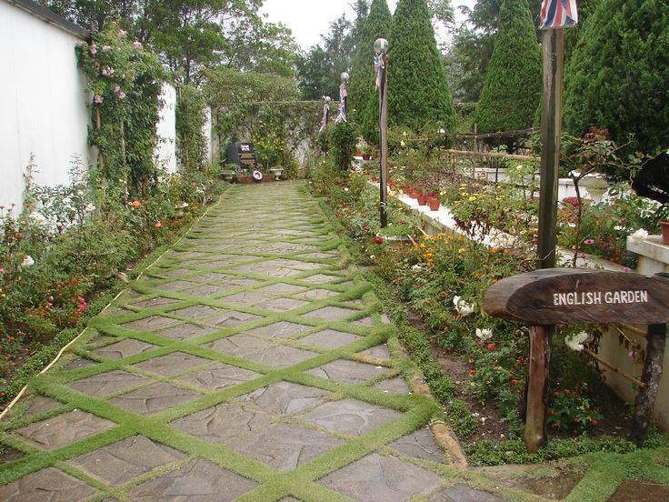 English garden pool and patio pinterest for English garden pool