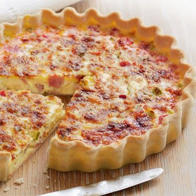 Breakfast Buffet Recipes: Ham and Cheese Quiche