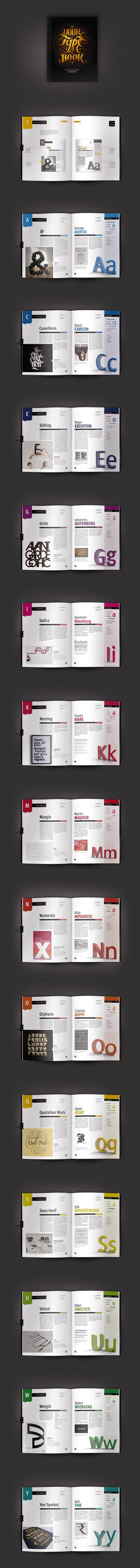 Your Type of Book by Aurelie Maron, via Behance