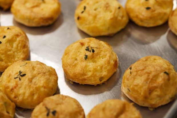 Thyme Gougeres - a lot of work...but a big wow factor (and delicious)