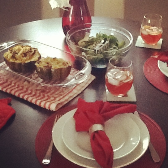 winter inspired vegan lunch Whole wheat couscous stuffed acorn ...