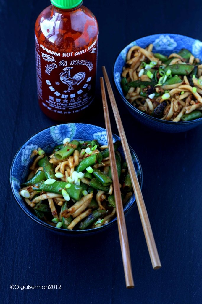 Spicy Fat Noodles with Snow Peas | Recipes | Pinterest