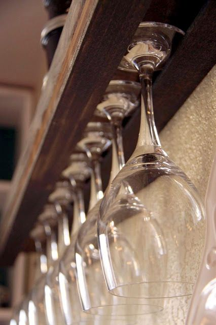 Diy wine glass rack the tale of women and whine pinterest for How to build a wine bar