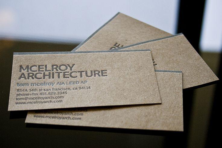 Architect Business Card Graphic Design Pinterest