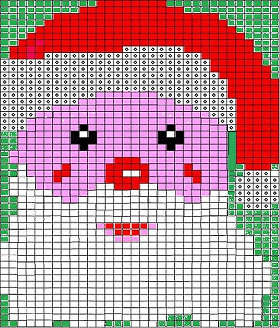 Chart to knit Santa Knitted Things Pinterest
