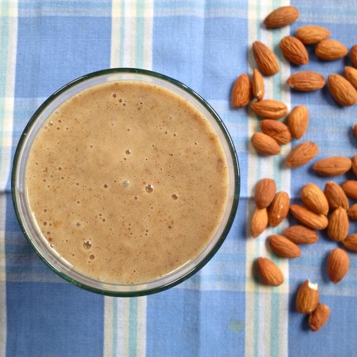 vegan banana date and almond shake: dairy free