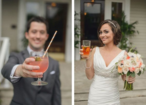 Signature cocktails for the bride + groom.