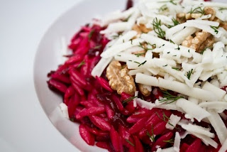 Beetroot, Walnut, Goat's Cheese and Orzo Pasta 'Salad' with Dill ...