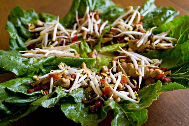 Asian Chicken Lettuce Wraps - 4 by Sugarcrafter, via Flickr