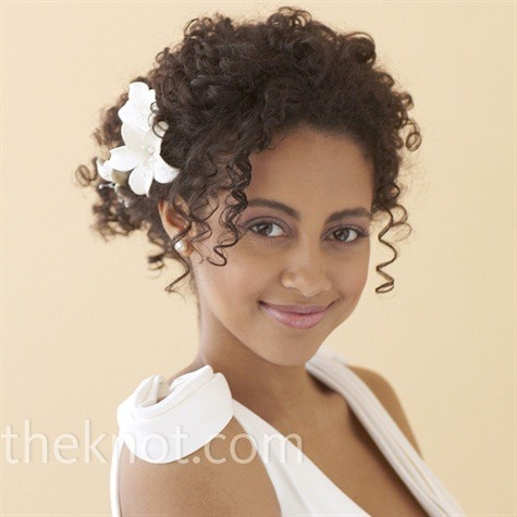 wedding hairstyles for naturally curly hair : Wedding Hair Styles