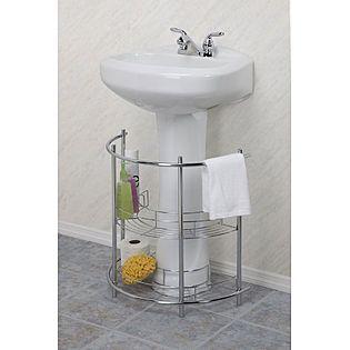 Under Sink Storage For Pedestal Sink : Storage for under a pedestal sink. For the Home Pinterest