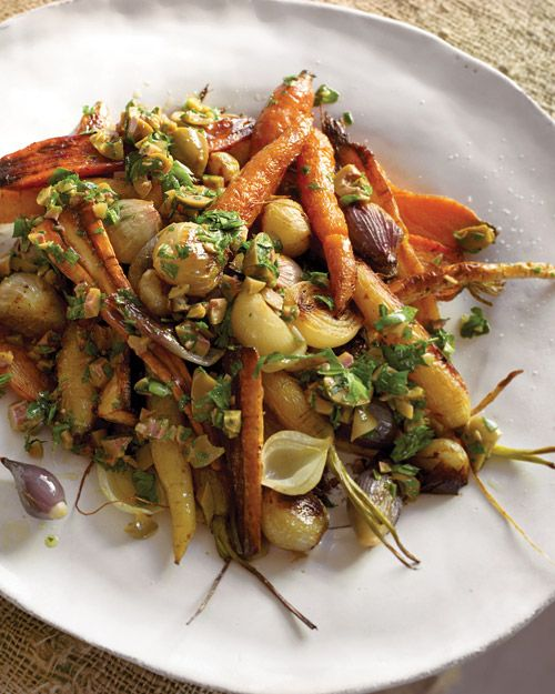 ... ...roasted carrots parsnips and shallots. I do love a roasted veggie
