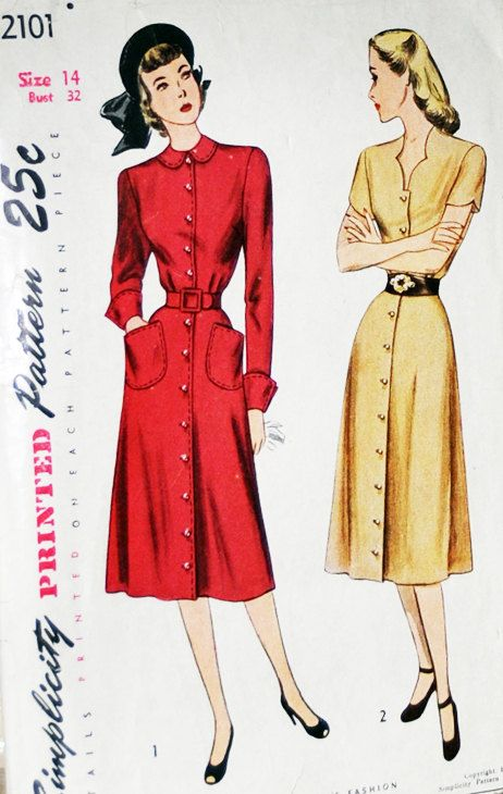 Vintage Pattern 1950s Pinup Rockabilly Dress by CaliforniaSenora