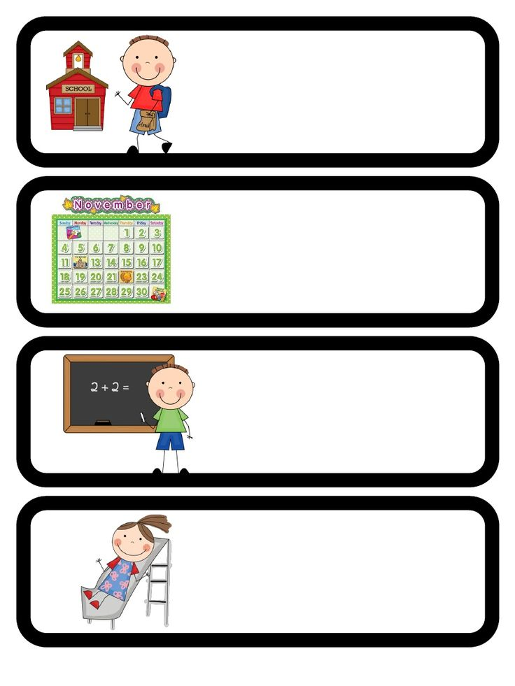 Free Downloads For Dailyhourly Planners on Preschool Visual Schedule Printable